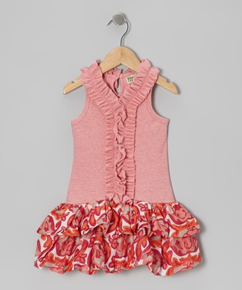 Candy Pink Ruffle Bubble Dress - Infant, Toddler & Girls