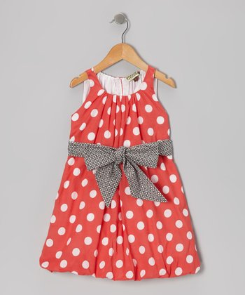 Red Polka Dot Bubble Dress - Toddler & Girls