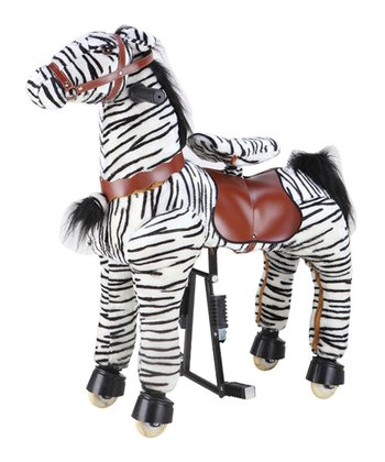 Black Striped Medium Horse Ride-On - Kids