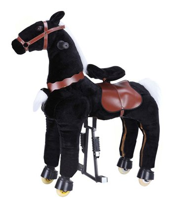 Black Medium Horse Ride-On - Kids