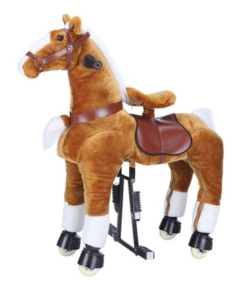 Brown & White Jumbo Horse Ride-On - Adults