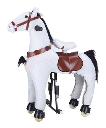 White Jumbo Horse Ride-On - Adult