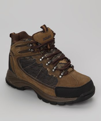 Brown Tuscon Hiking Boot - Kids