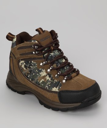 Dark Chestnut Camo Tuscon Hiking Boot - Kids