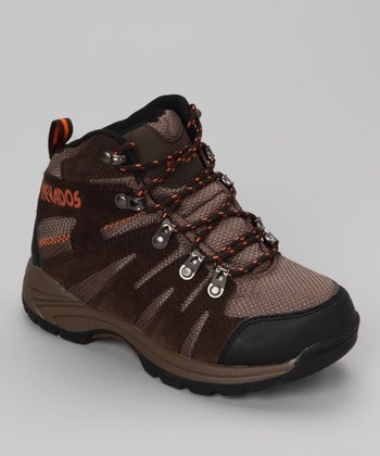Chestnut & Orange Kennesaw Hiking Boot - Kids