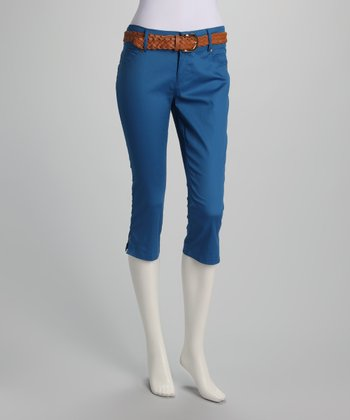 Royal Belted Capri Pants