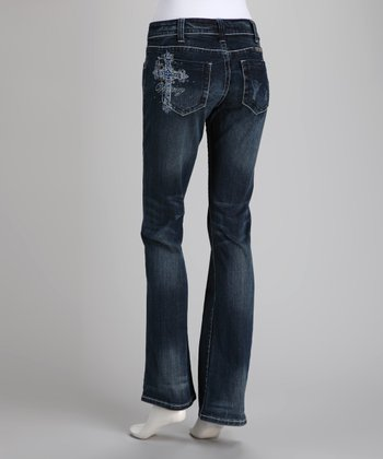 Blue Victory Bootcut Jeans - Women & Plus