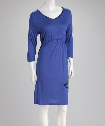 Blue Empire-Waist Dress