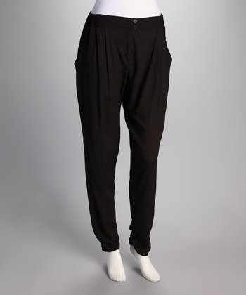 Black Challis Pants