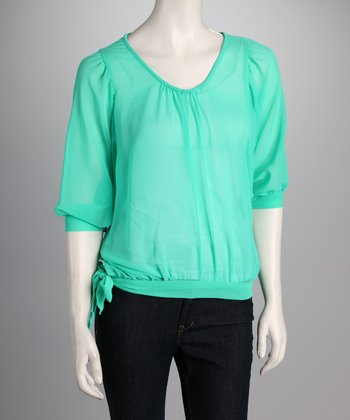 Mint Side-Tie Top