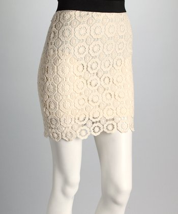 Natural Crocheted Skirt