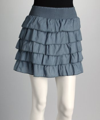 Gray Tiered Skirt