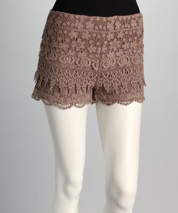 Taupe Lace Shorts