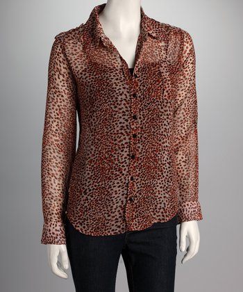 Rust Jungle Blouse