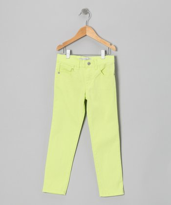 Yellow Moto Straight-Leg Jeans - Girls