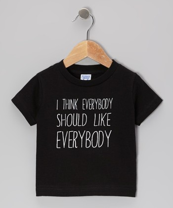 Black 'Everybody' Tee - Toddler & Kids