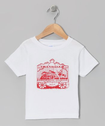 White Circus Animals Tee - Toddler & Kids