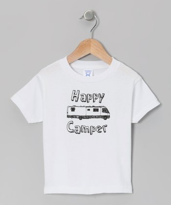 White 'Happy Camper' Tee - Toddler & Kids