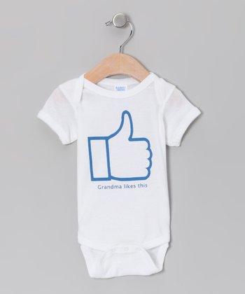 Little Treetops White 'Grandma Likes This' Bodysuit - Infant