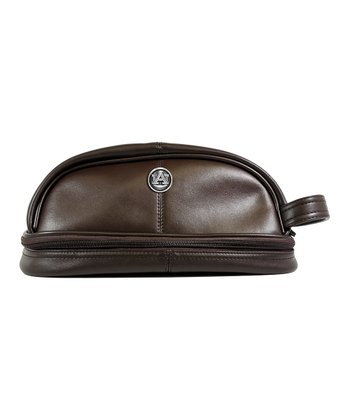 Brown Auburn Tigers Toiletry Bag