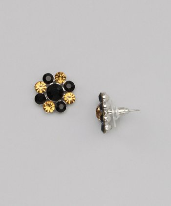 Gold & Black Mixed Daizie Earrings
