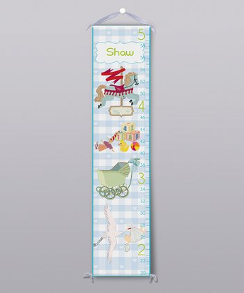 Blue Nursery Room Personalized Growth Chart