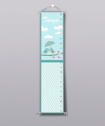Blue Little Bird Personalized Growth Chart