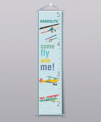 'Come Fly with Me' Personalized Growth Chart