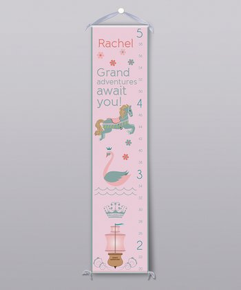 Pink 'Grand Adventures' Personalized Growth Chart