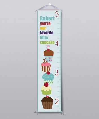 Blue 'Favorite Little Cupcake' Personalized Growth Chart