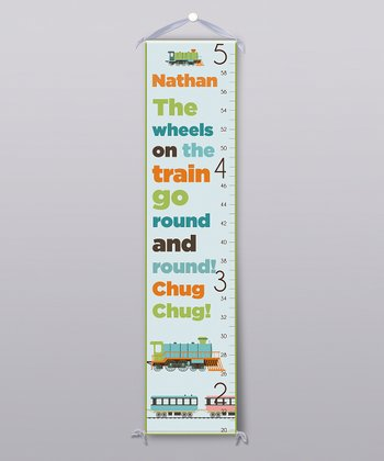 'Wheels on the Train' Personalized Growth Chart