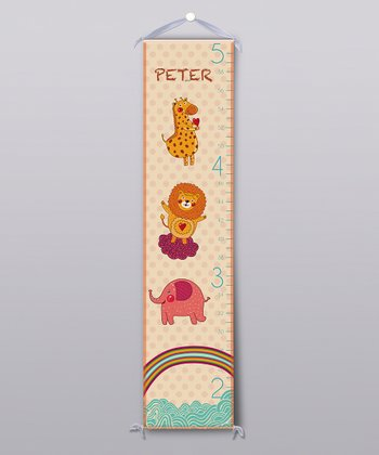 Jungle Animal Personalized Growth Chart