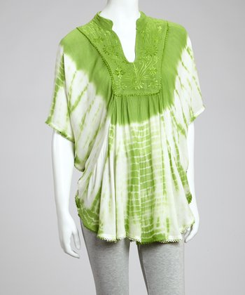 Green Tie-Dye Tunic - Women
