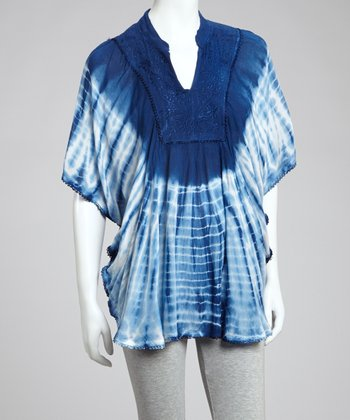 Navy Tie-Dye Tunic - Women