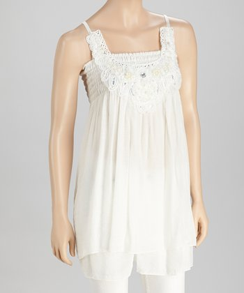 White Pearl & Sequin Tunic - Women