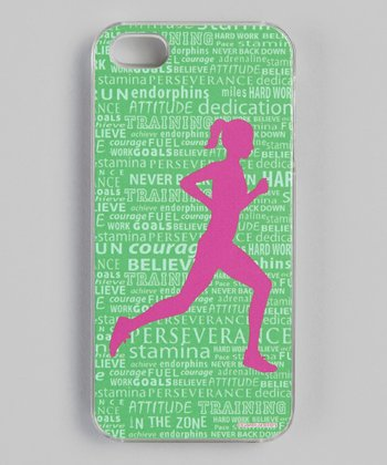 Green Inspirational Words Case for iPhone