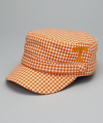 Orange Houndstooth Tennessee Cabbie Cap