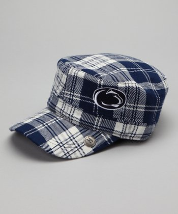Blue Plaid Penn State Cabbie Cap