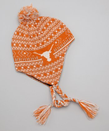 Orange Texas Earflap Beanie