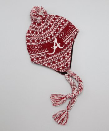 Red Alabama Earflap Beanie