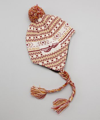 Red & Gold Florida State Earflap Beanie