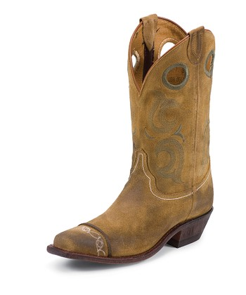 Sand Waxy Cowboy Boot - Women