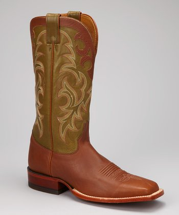 Brown Gunstock Cowboy Boot - Men