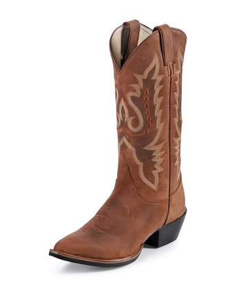 Coffee Westerner Cowboy Boot - Women