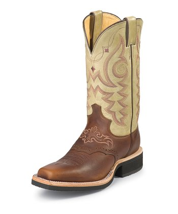 Mahogany Worn Saddle AQHA Cowboy Boot - Women
