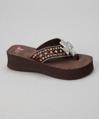 Brown Randi Platform Flip-Flop - Women