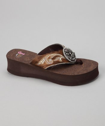 Brown Melody Platform Flip-Flop - Women