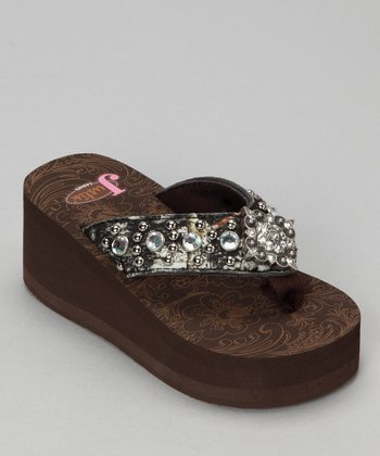 Brown Addison Flip-Flop - Girls