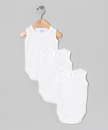 White Sleeveless Bodysuit Set