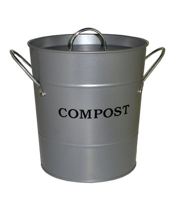 Silver 'Compost' Kitchen Bucket